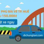 3 cách di chuyển từ sân bay Phú Bài về thành phố Huế