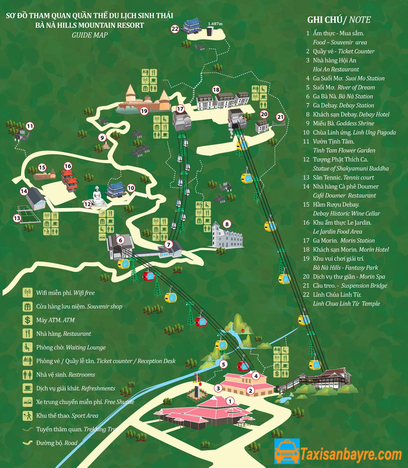 Bản đồ các địa điểm du lịch Đà Nẵng - hinh 1