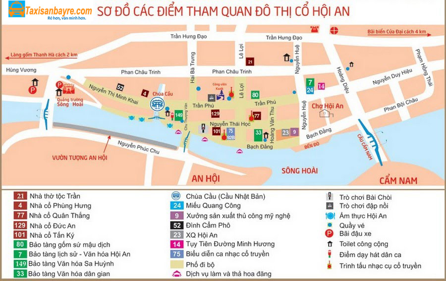 Bản đồ các địa điểm du lịch Đà Nẵng - hinh 3