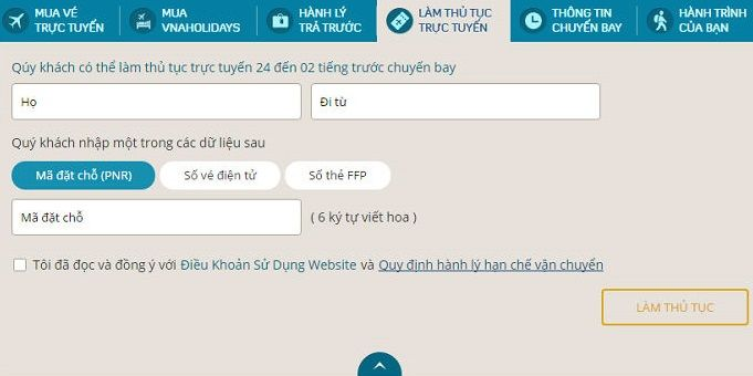 Hướng dẫn check in online Vietnam Airlines _ hinh 2