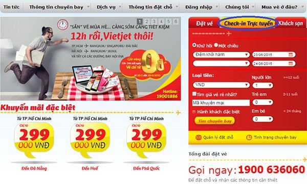 Thủ tục check in online Vietjet Air - hinh 1
