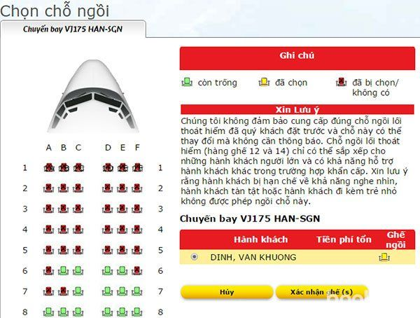 Thủ tục check in online Vietjet Air - hinh 3