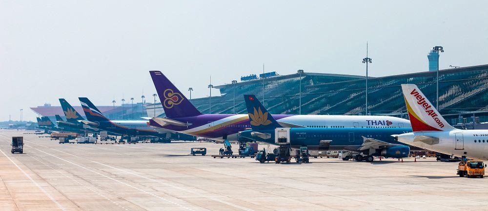 Sân đỗ máy bay sân bay quốc tế Nội Bài