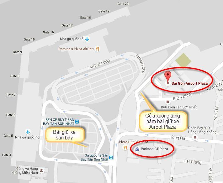 Gửi xe máy ở sân bay Tân Sơn Nhất