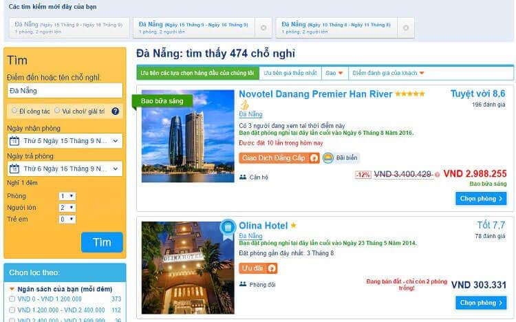 Hướng dẫn đặt khách sạn tại Booking.com