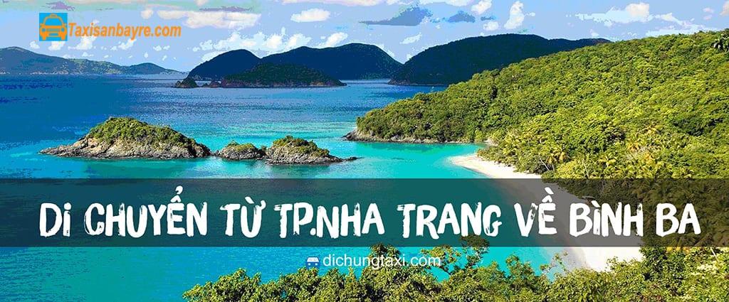 Di chuyển từ Cam Ranh Nha Trang ra đảo Bình Ba
