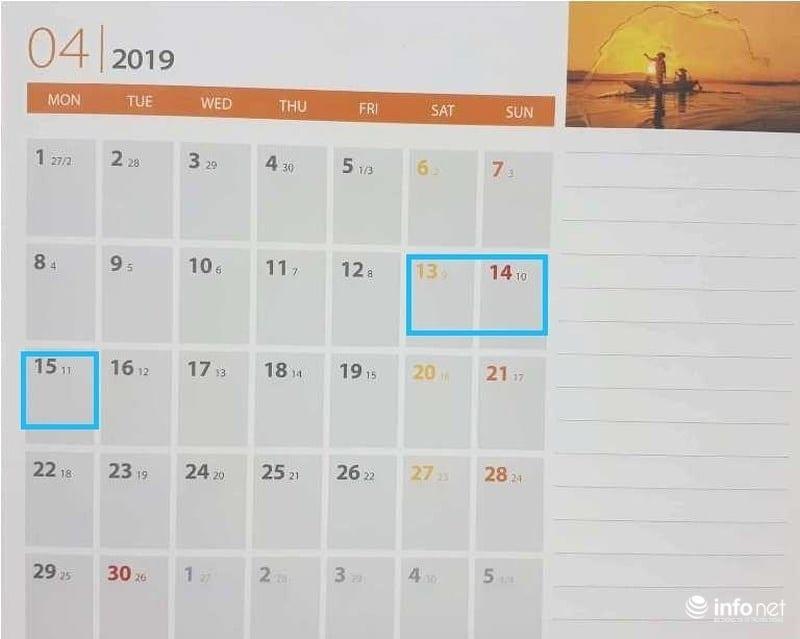 Lịch nghỉ 30/4, 1/5 và ngày nghỉ giỗ tổ Hùng Vương 2019