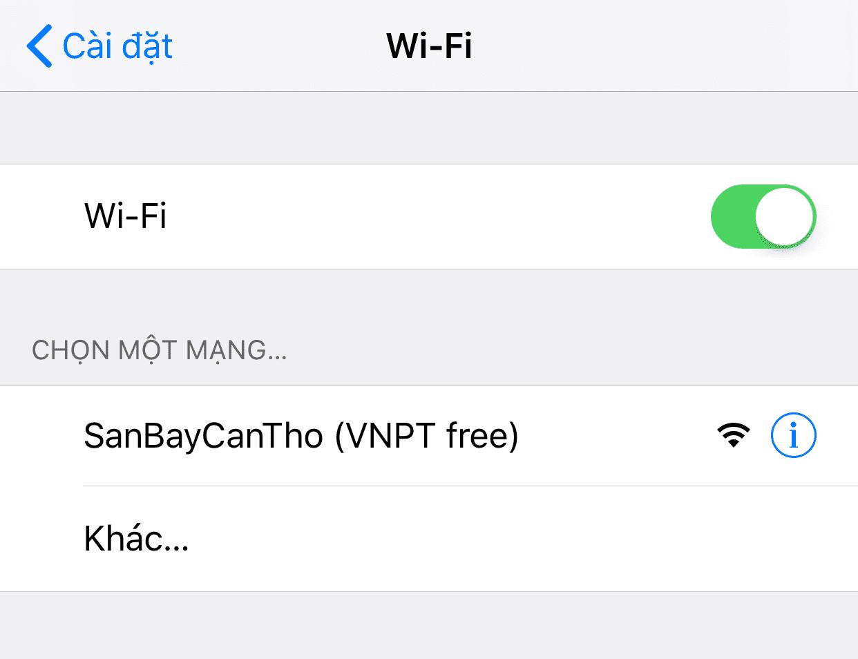 WIFI miễn phí - sân bay Cần Thơ