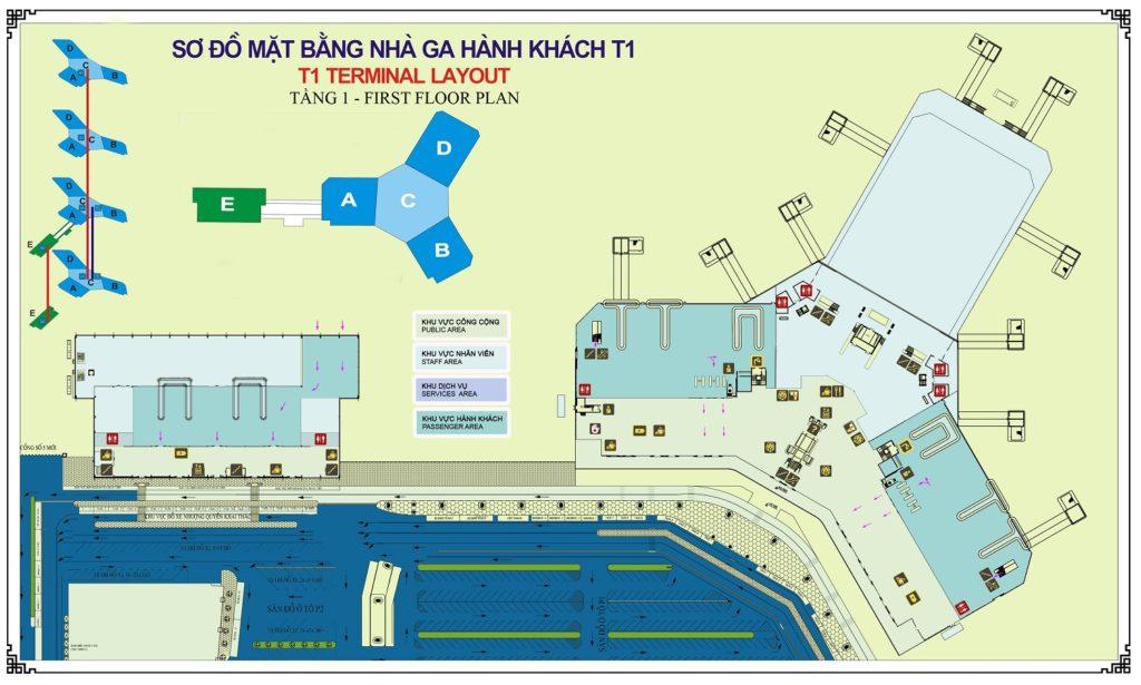Sơ đồ nhà ga hành khách Quốc Nội - Nội Bài (T1) - hinh 3