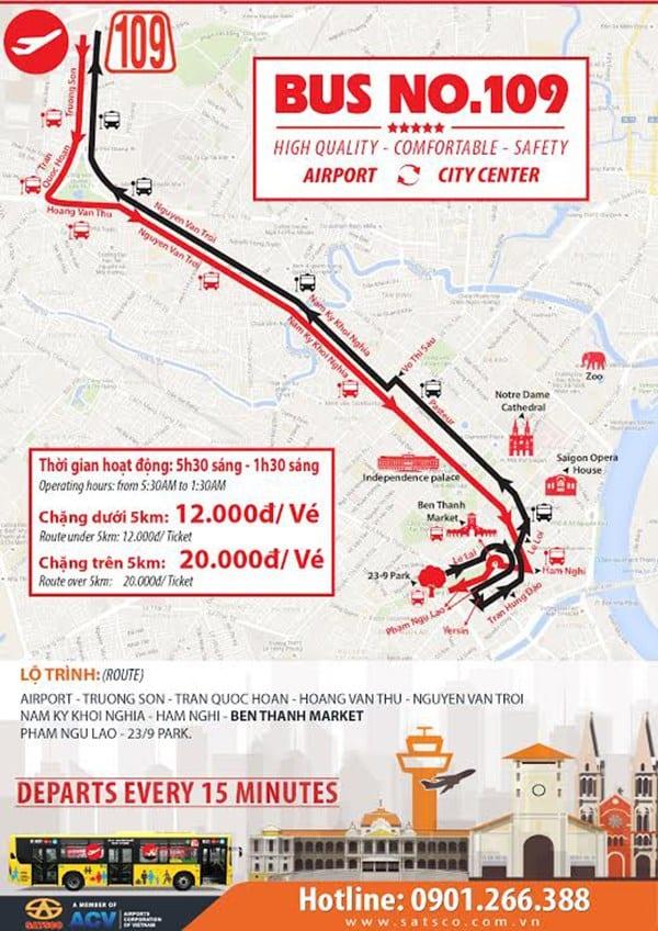 Xe buýt 109: Sân bay Tân Sơn Nhất đi Bến Thành - hinh 2
