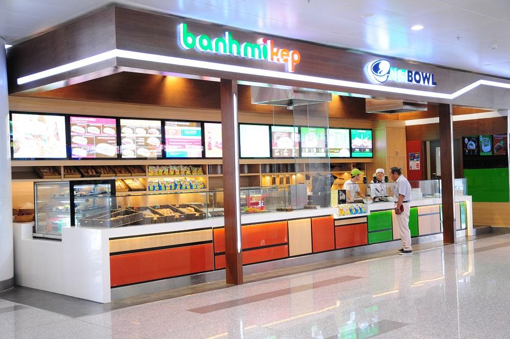 Dịch vụ ăn uống mua sắm tại sân bay Nội Bài
