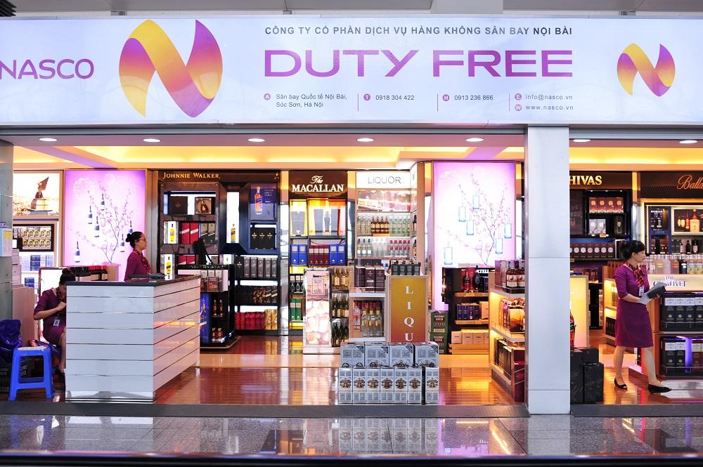 Dịch vụ bán hàng miễn thuế tại sân bay Nội Bài