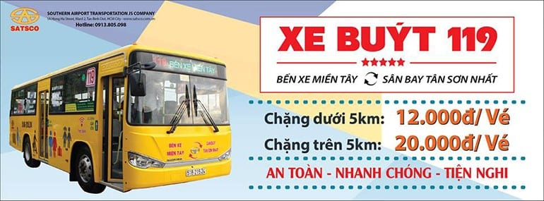 Xe buýt 119: Sân bay Tân Sơn Nhất đi Bến xe miền Tây - hinh 1