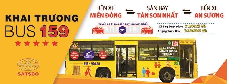 Xe buýt 159: Bến xe Miền Đông - Sân bay - Bến xe An Sương - hinh 1