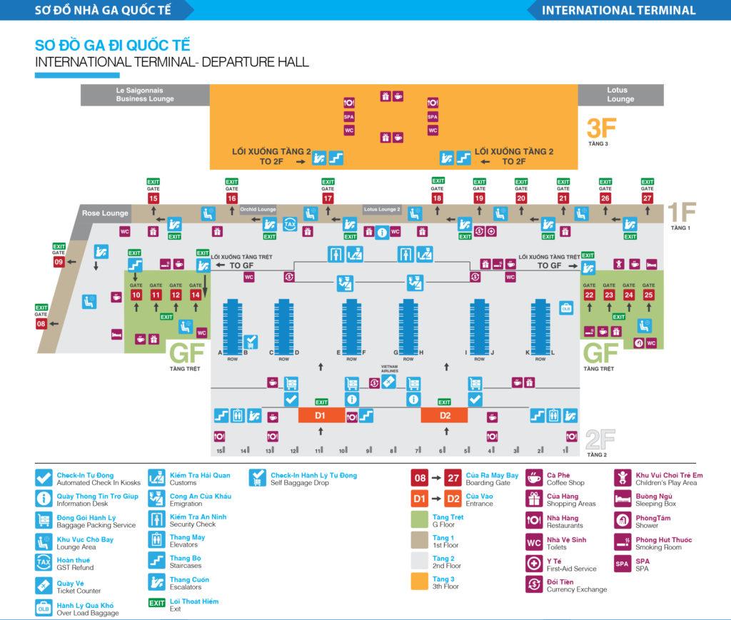 Sơ đồ nhà ga sân bay Tân Sơn Nhất - hinh 4